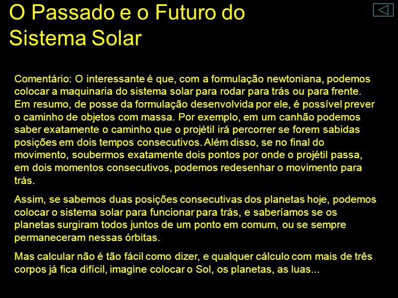 O Passado e o Futuro do Sistema Solar