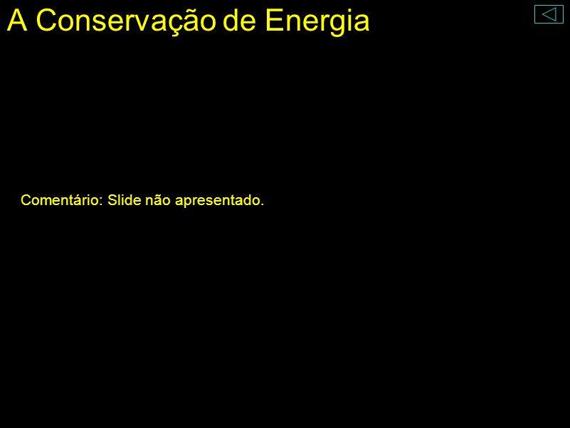 A Conservação de Energia