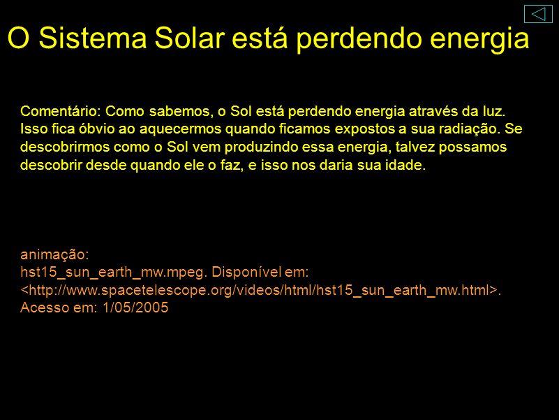 O Sistema Solar está perdendo energia