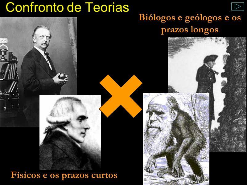 Biólogos e geólogos e os prazos longos Físicos e os prazos curtos