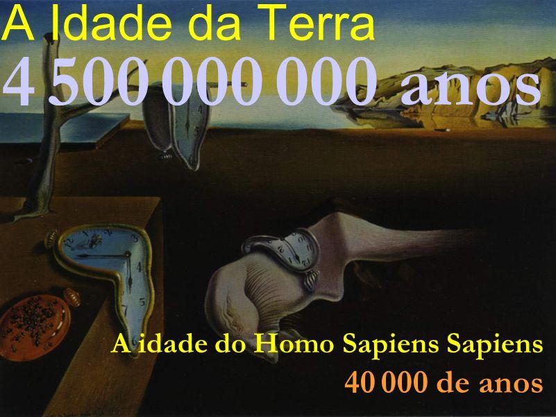 4 500 000 000 anos A Idade da Terra 40 000 de anos