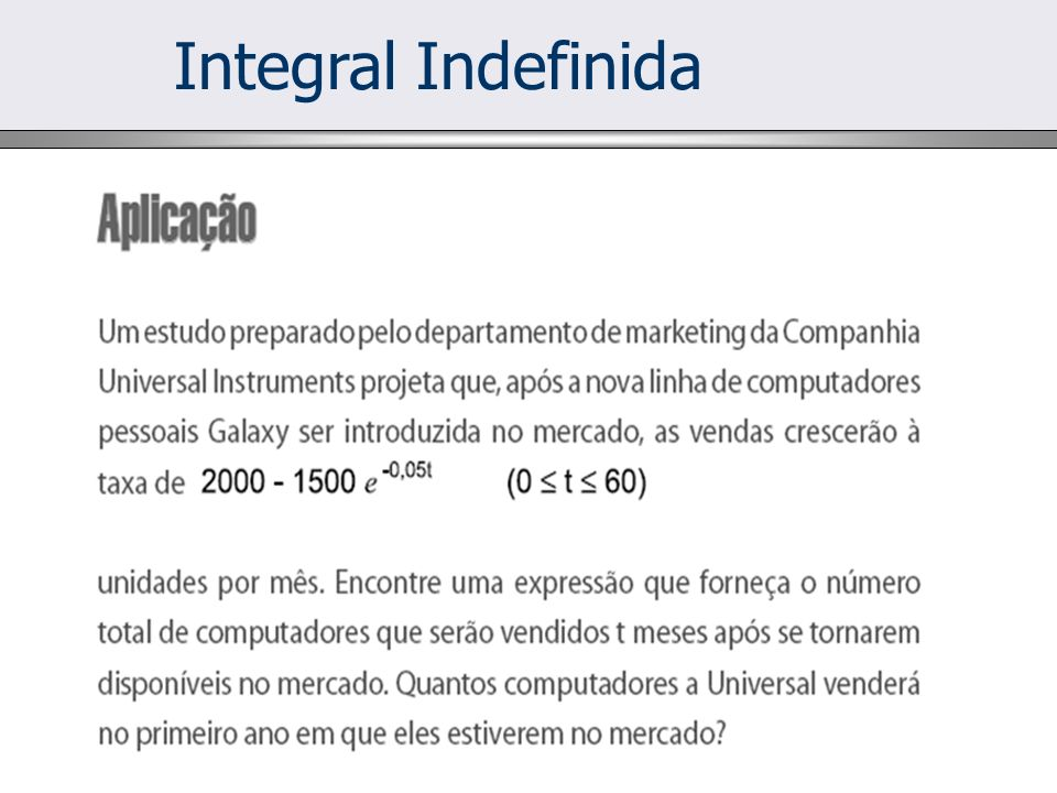 Integral Indefinida