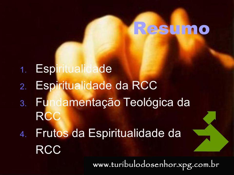 Resumo Espiritualidade Espiritualidade da RCC