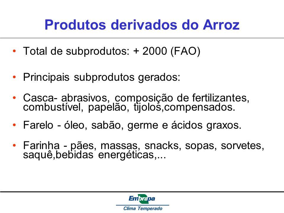 Produtos derivados do Arroz
