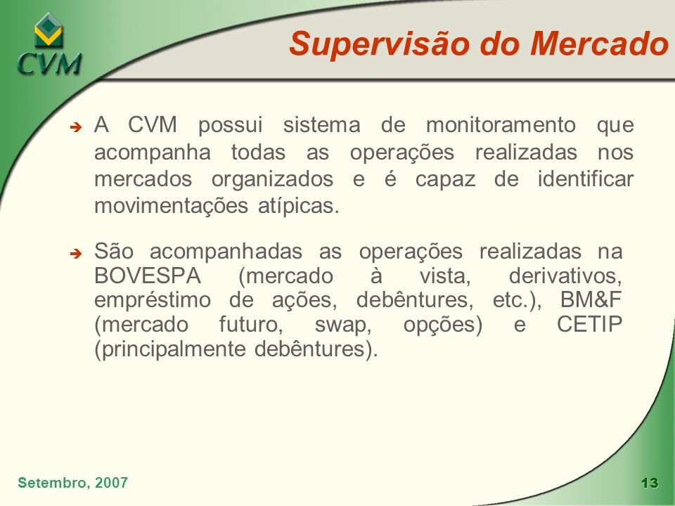 Supervisão do Mercado