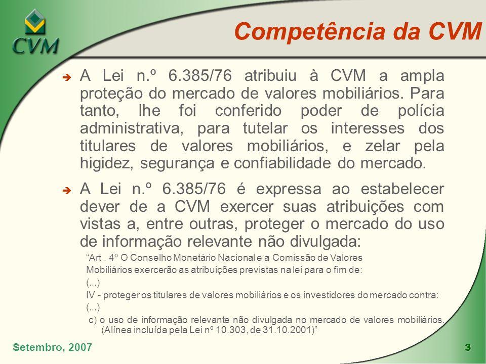 Competência da CVM