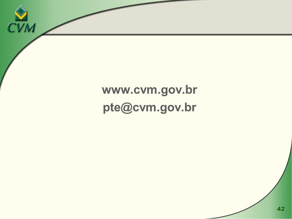 www.cvm.gov.br pte@cvm.gov.br