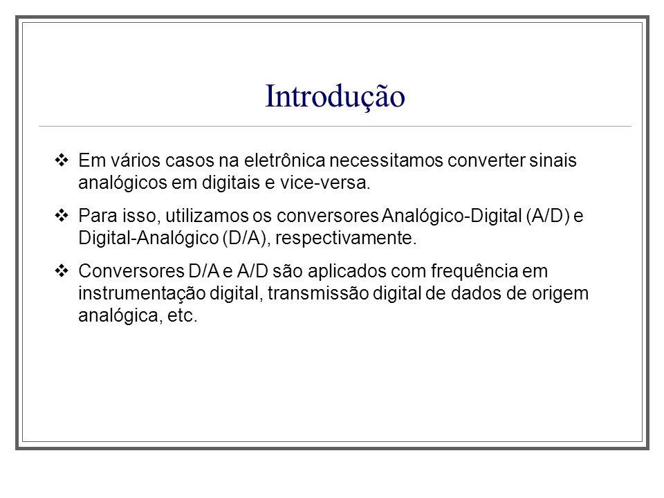 Aula 1 Introdução. Em vários casos na eletrônica necessitamos converter sinais analógicos em digitais e vice-versa.