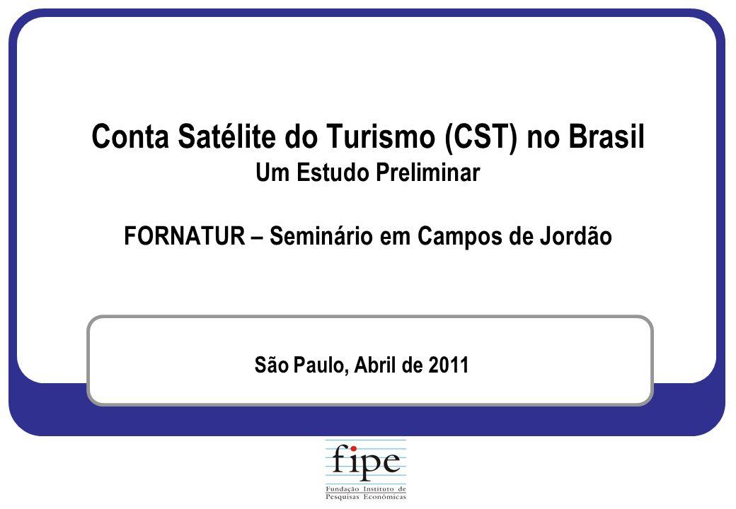Conta Satélite do Turismo (CST) no Brasil Um Estudo Preliminar FORNATUR – Seminário em Campos de Jordão