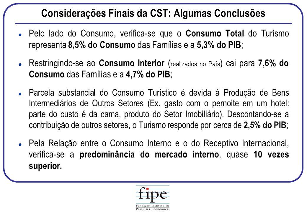 Considerações Finais da CST: Algumas Conclusões