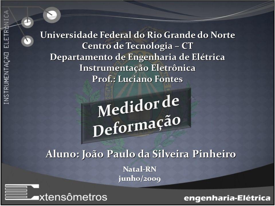 Medidor de Deformação Aluno: João Paulo da Silveira Pinheiro
