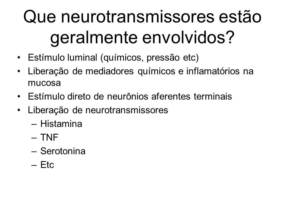 Que neurotransmissores estão geralmente envolvidos