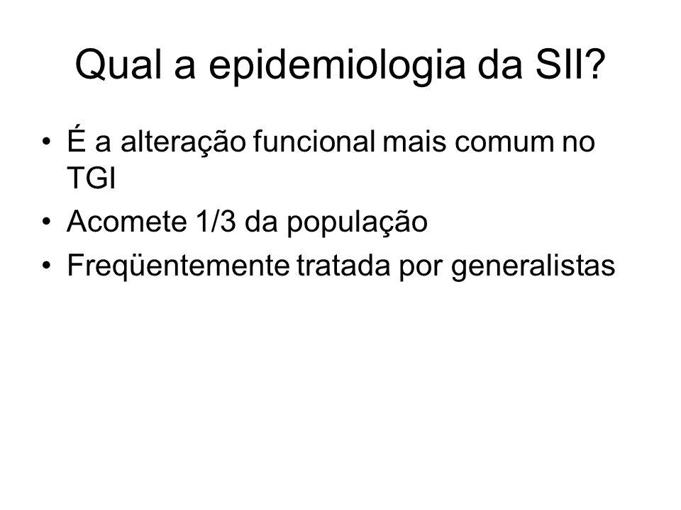 Qual a epidemiologia da SII