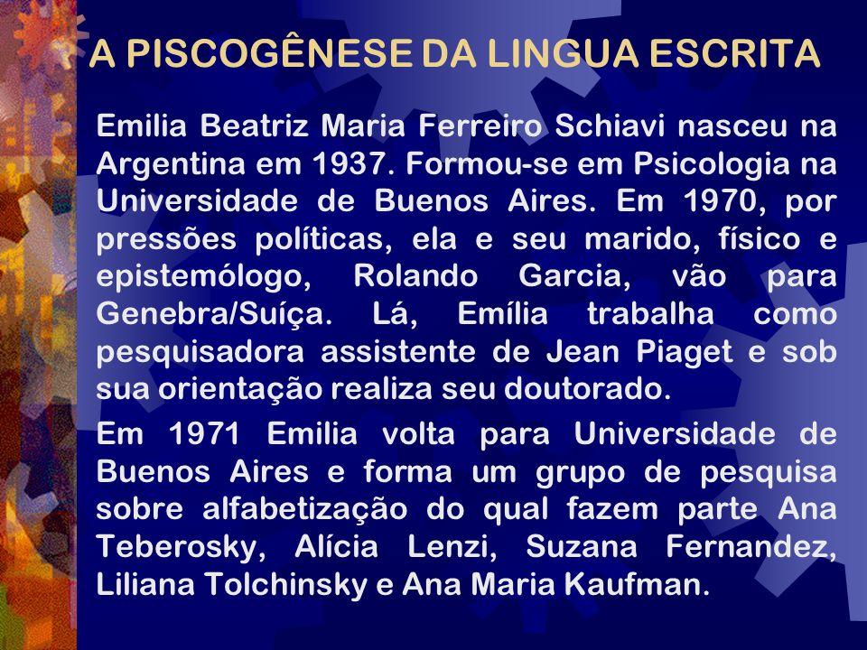A PISCOGÊNESE DA LINGUA ESCRITA