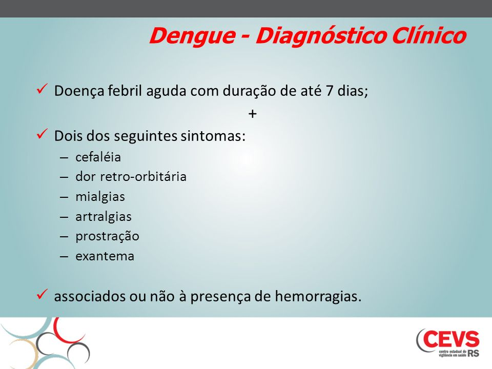 Dengue - Diagnóstico Clínico