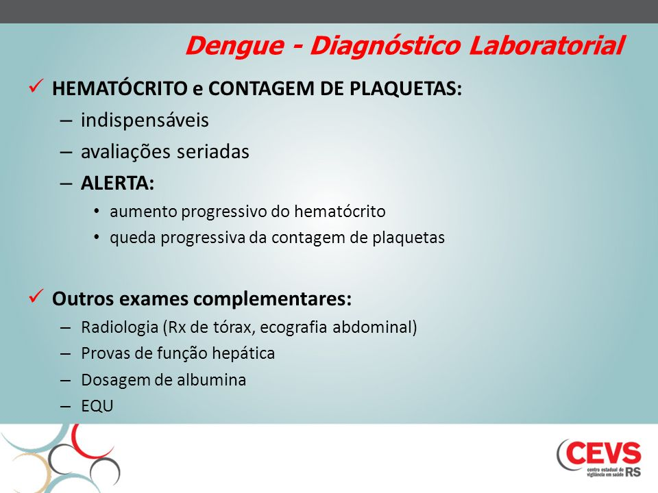 Dengue - Diagnóstico Laboratorial