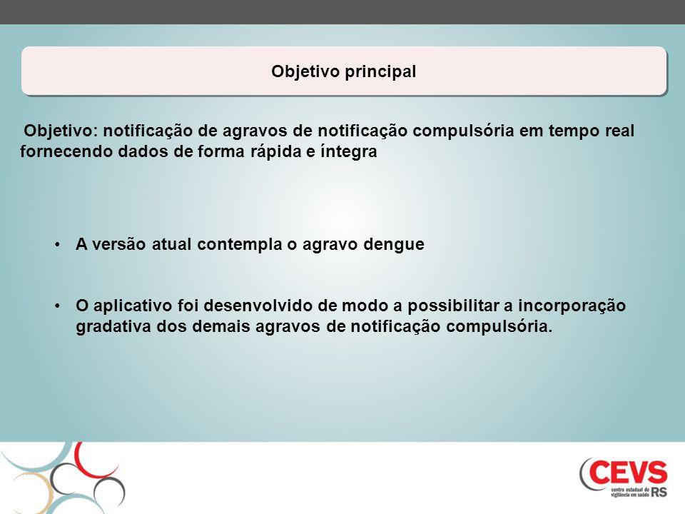 A versão atual contempla o agravo dengue