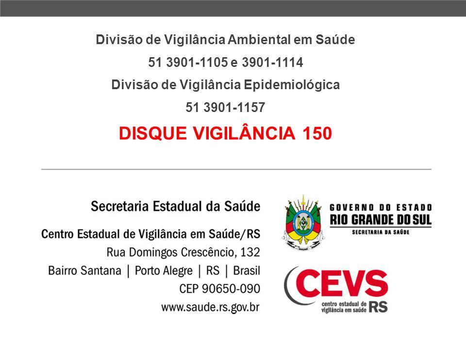 DISQUE VIGILÂNCIA 150 Divisão de Vigilância Ambiental em Saúde