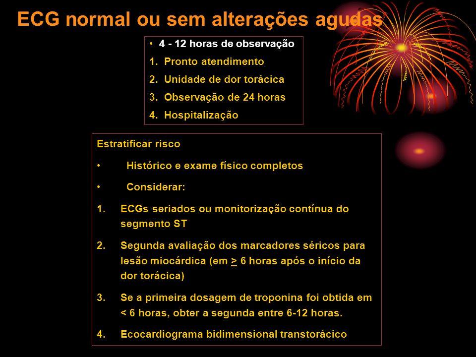 ECG normal ou sem alterações agudas