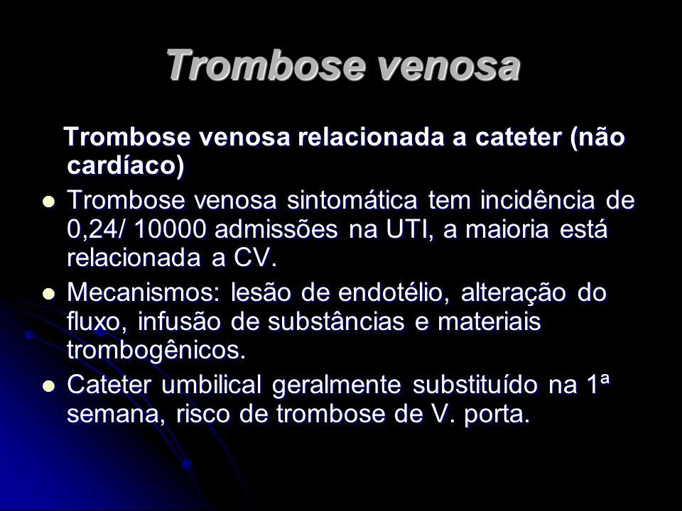Trombose venosa Trombose venosa relacionada a cateter (não cardíaco)