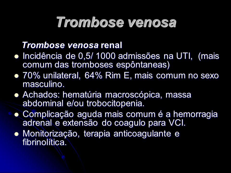 Trombose venosa Trombose venosa renal