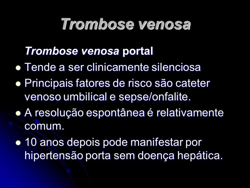 Trombose venosa Trombose venosa portal