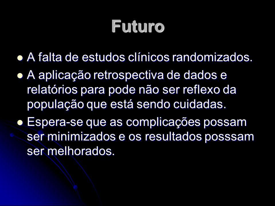 Futuro A falta de estudos clínicos randomizados.