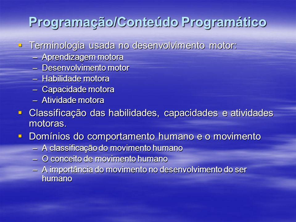 Programação/Conteúdo Programático