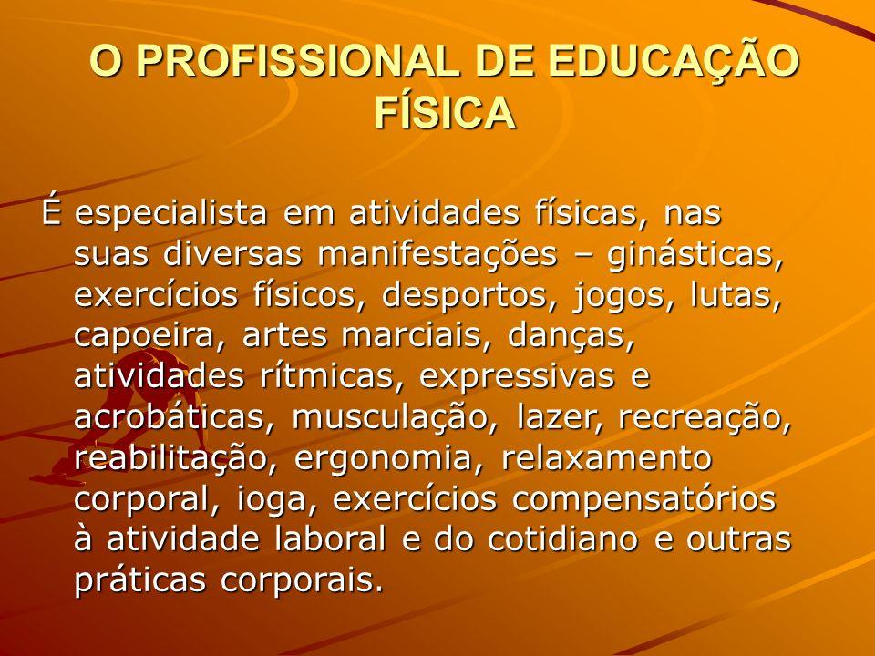 O PROFISSIONAL DE EDUCAÇÃO FÍSICA
