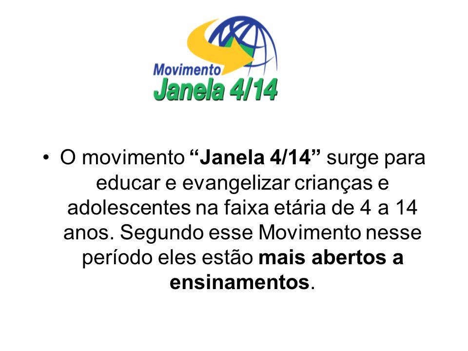 O movimento Janela 4/14 surge para educar e evangelizar crianças e adolescentes na faixa etária de 4 a 14 anos.