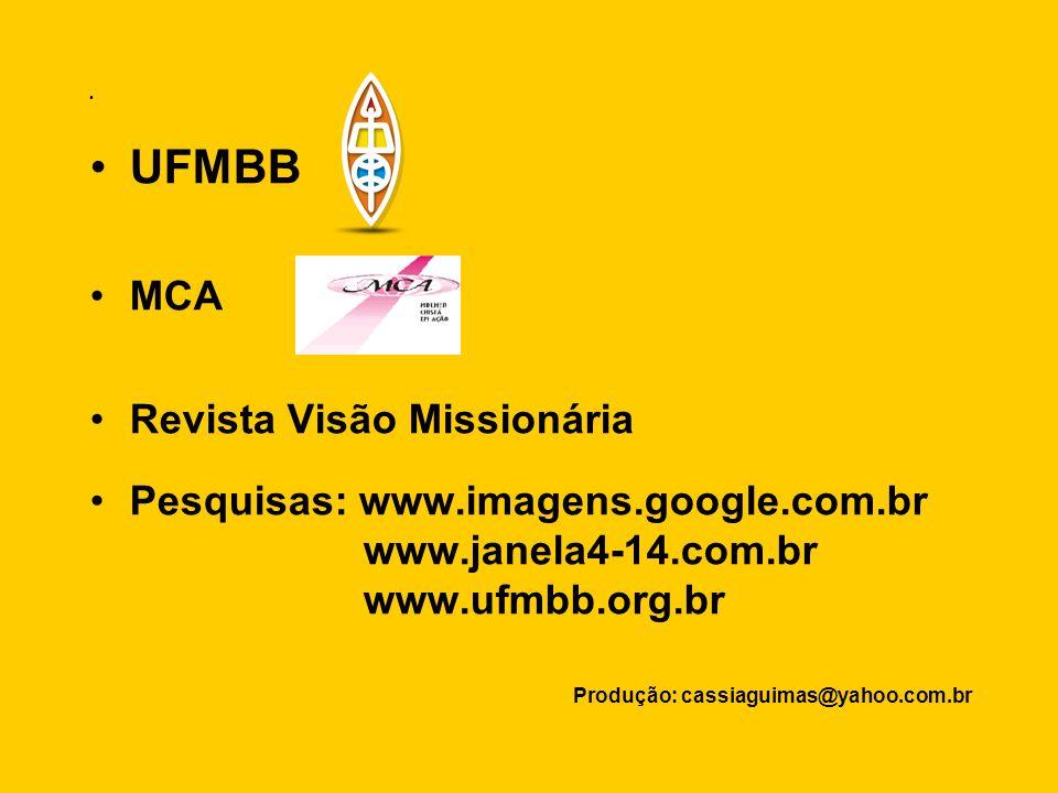 UFMBB MCA Revista Visão Missionária