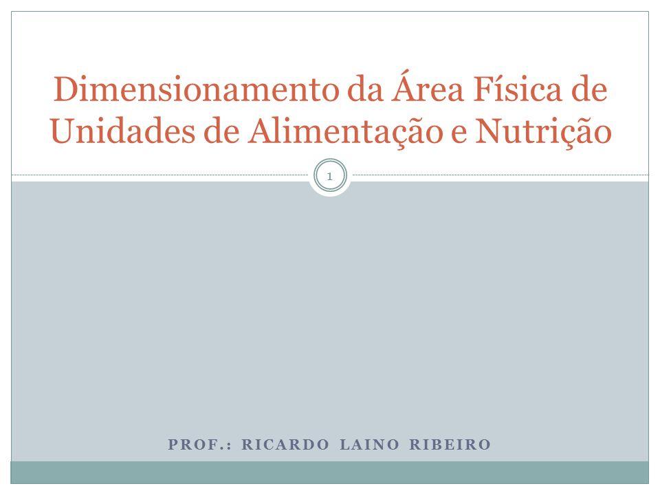 Dimensionamento Da área Física De Unidades De Alimentação E Nutrição