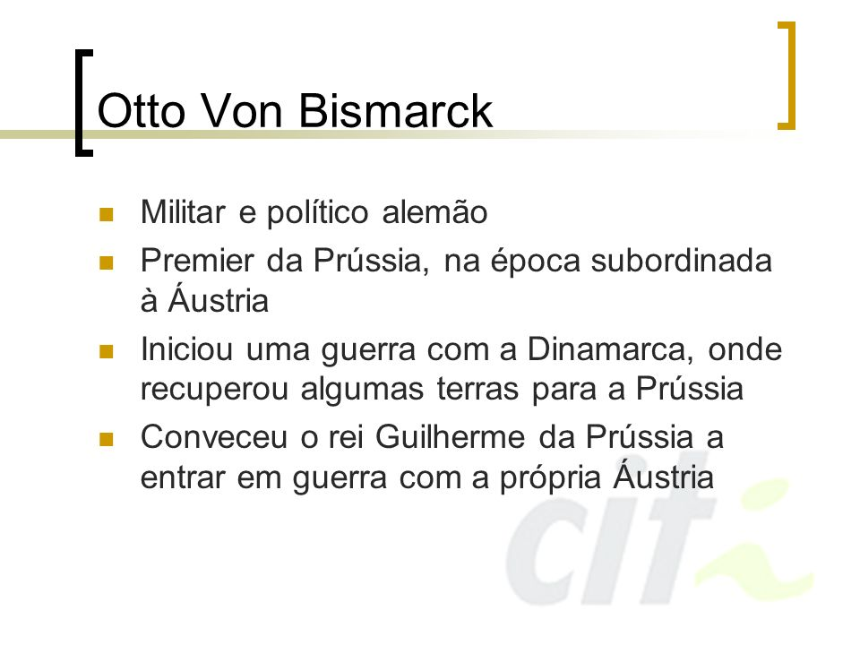 Otto Von Bismarck Militar e político alemão