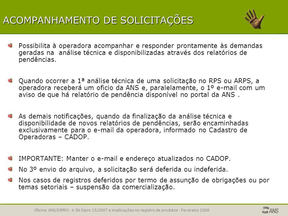 ACOMPANHAMENTO DE SOLICITAÇÕES