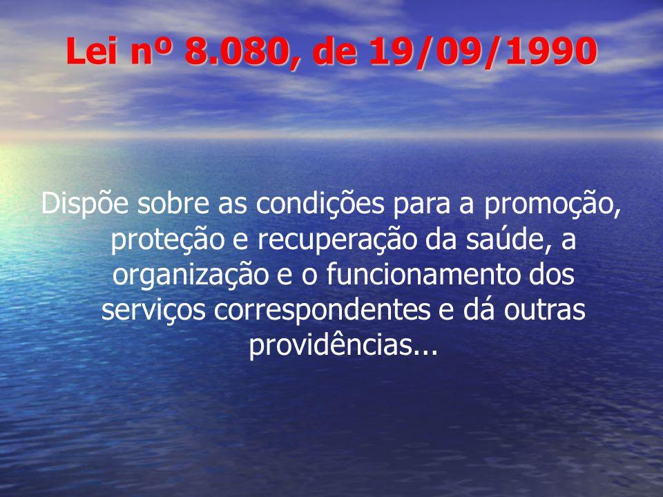 Lei nº 8.080, de 19/09/1990