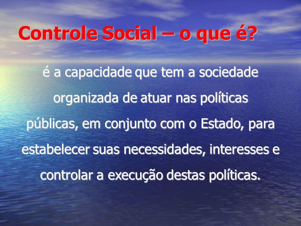Controle Social – o que é