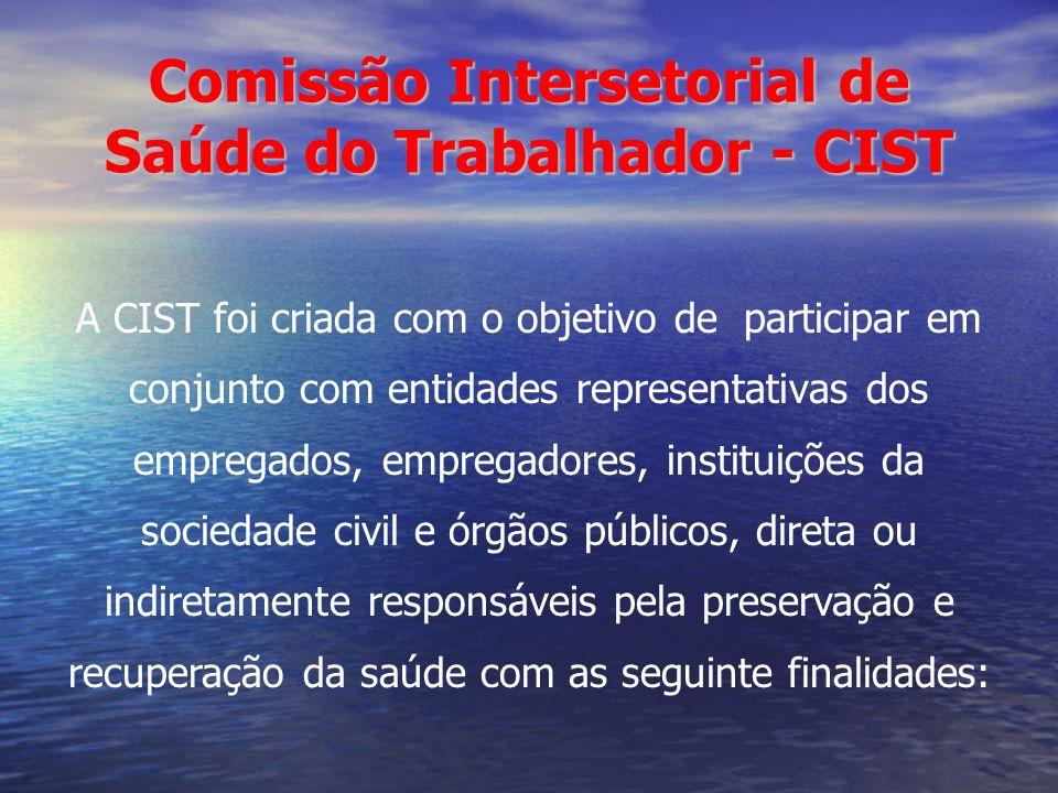 Comissão Intersetorial de Saúde do Trabalhador - CIST