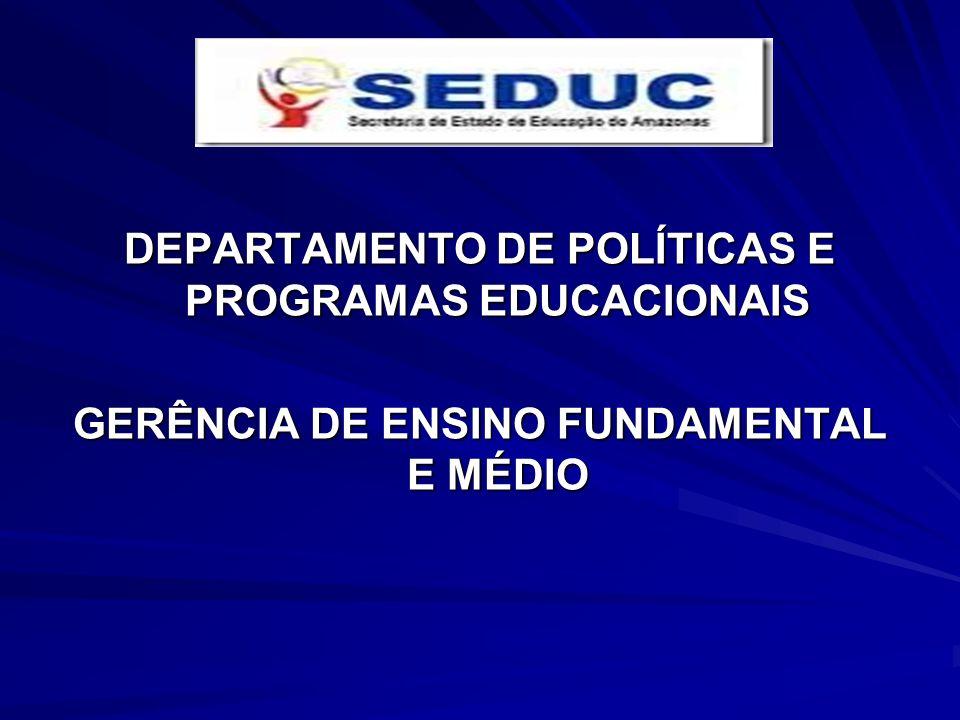 DEPARTAMENTO DE POLÍTICAS E PROGRAMAS EDUCACIONAIS
