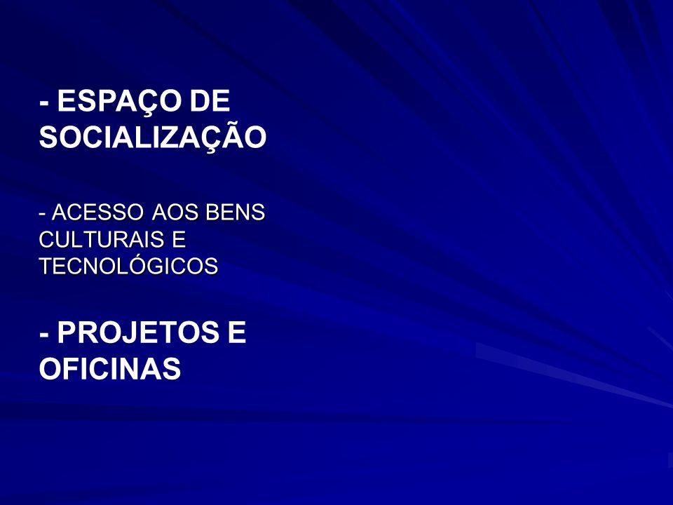 - ESPAÇO DE SOCIALIZAÇÃO