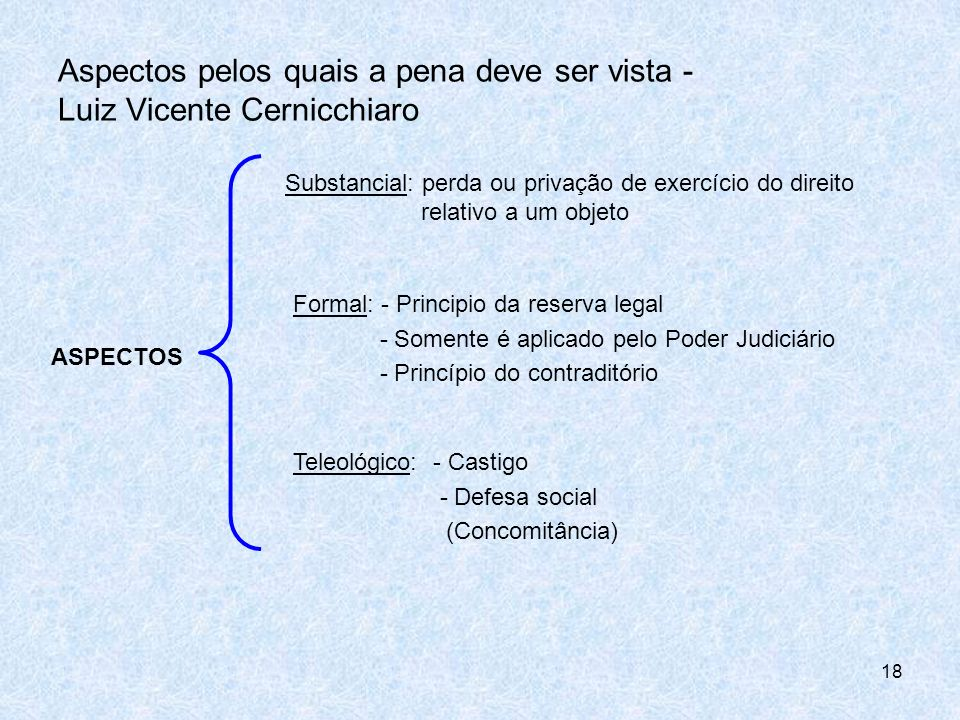 Aspectos pelos quais a pena deve ser vista - Luiz Vicente Cernicchiaro