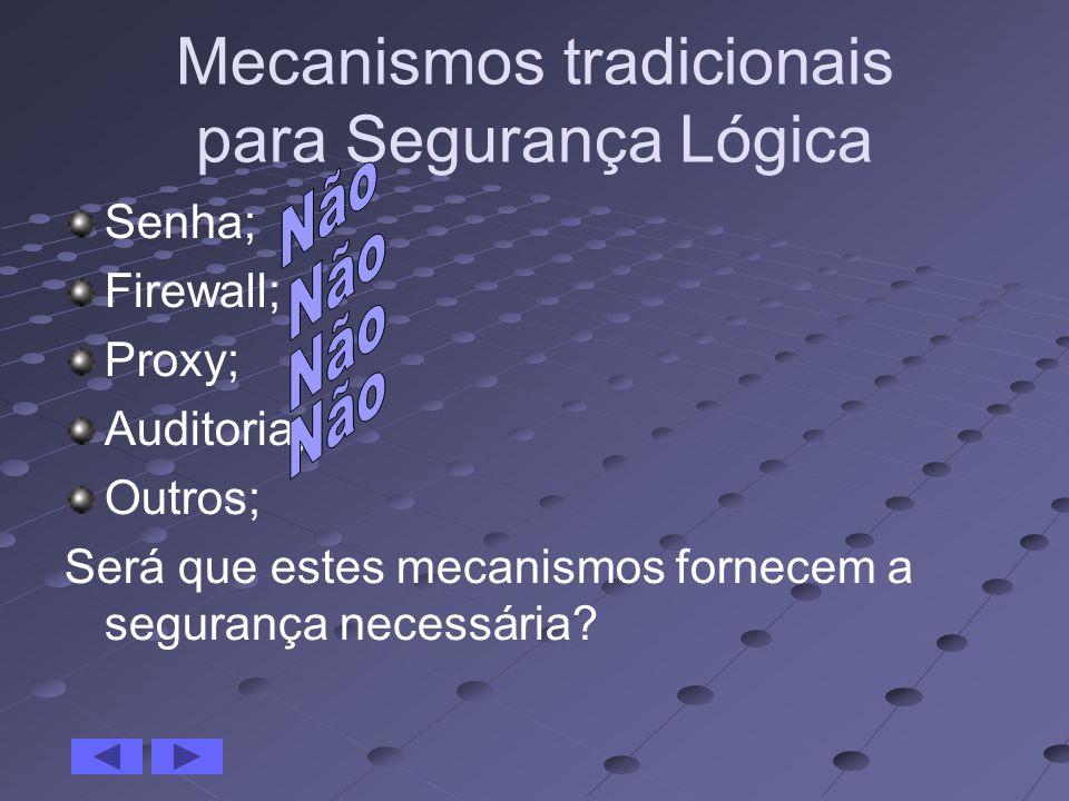 Mecanismos tradicionais para Segurança Lógica