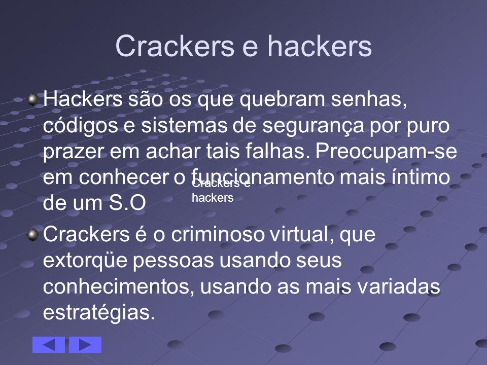 Crackers e hackers