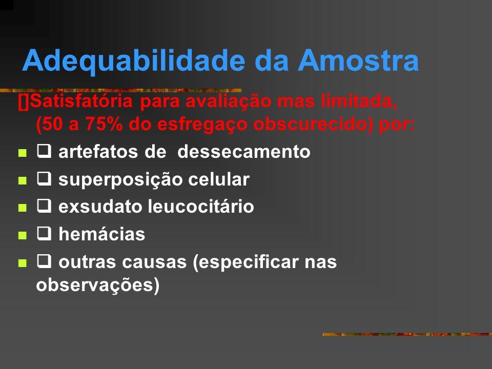 Adequabilidade da Amostra