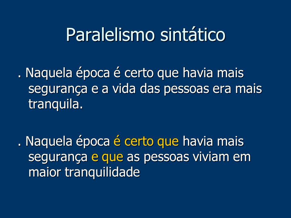 Paralelismo sintático