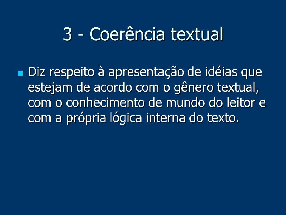 3 - Coerência textual
