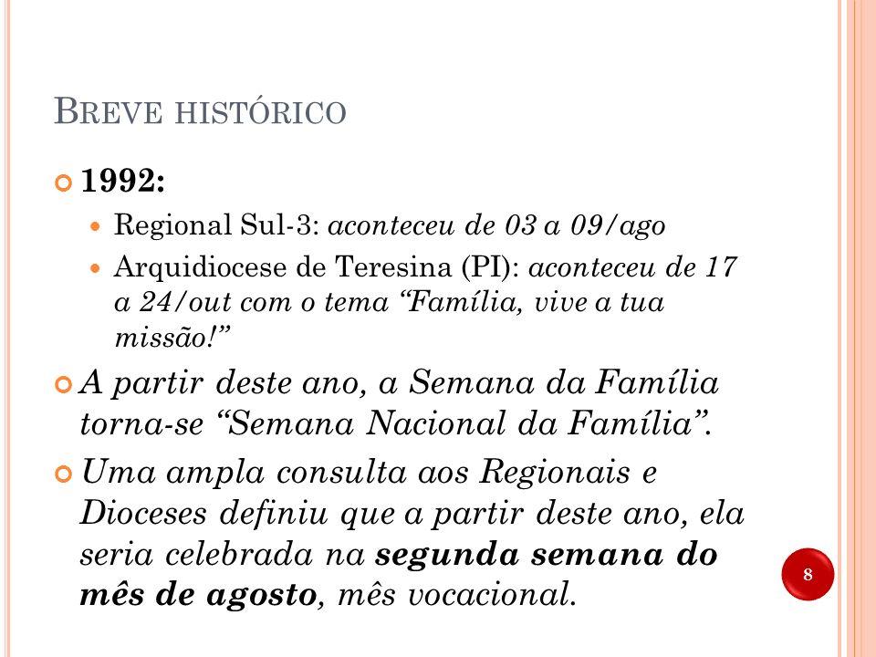 Breve histórico 1992: Regional Sul-3: aconteceu de 03 a 09/ago.