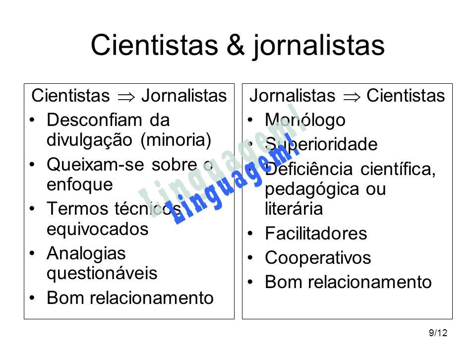 Cientistas & jornalistas