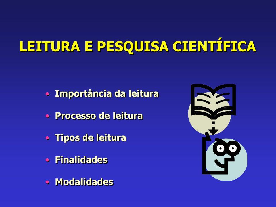 LEITURA E PESQUISA CIENTÍFICA