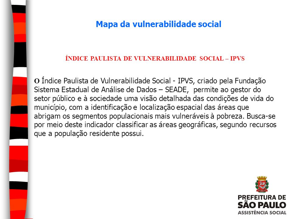 Mapa da vulnerabilidade social