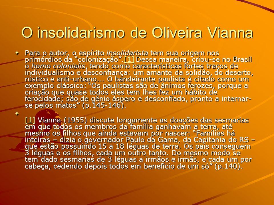 O insolidarismo de Oliveira Vianna